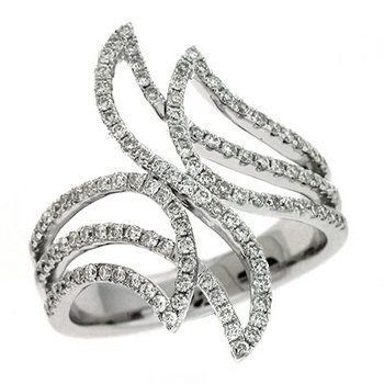 White Gold M. Pave Ring