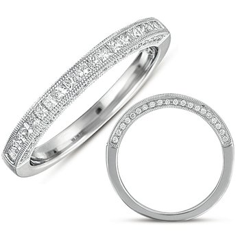 White Gold Matching Band For en7058