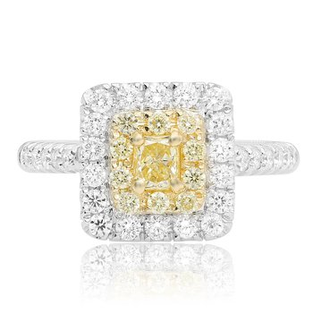 Pave Shank Cushion Cut Diamond Ring