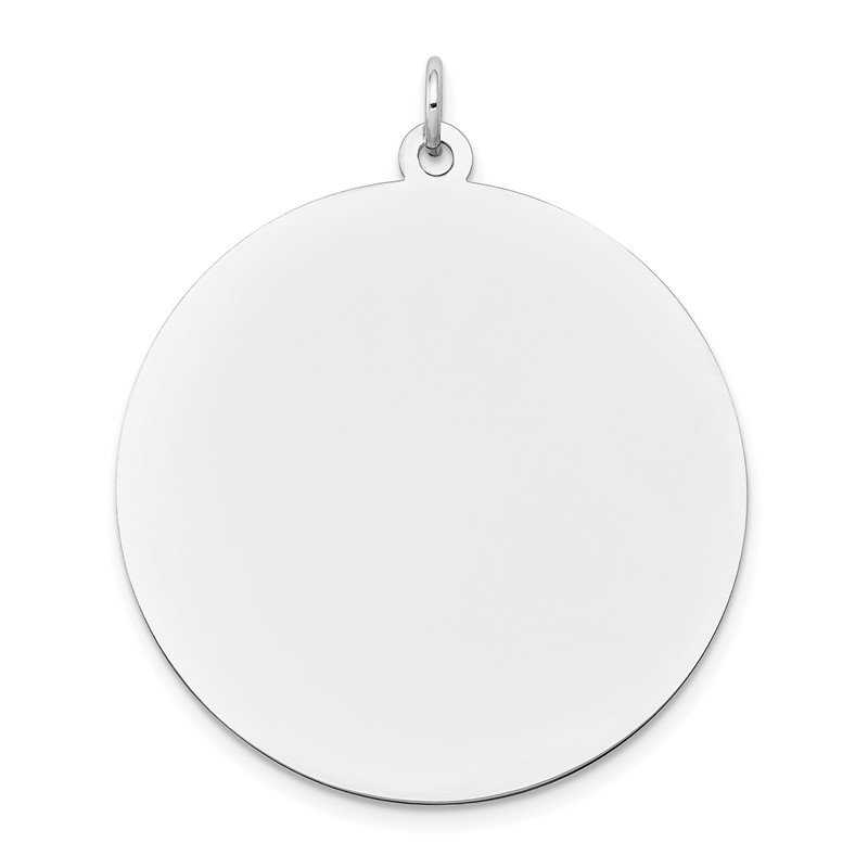 Quality Gold 14K White Gold Round Disc Charm