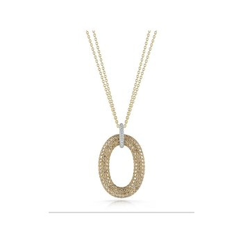 Oval Pendant With Diamonds