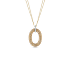Roberto Coin Oval Pendant With Diamonds