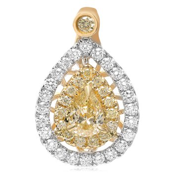 Floating Yellow Diamond Pendant