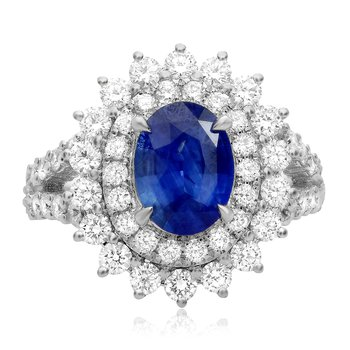 Flowering Sapphire & Diamond Ring
