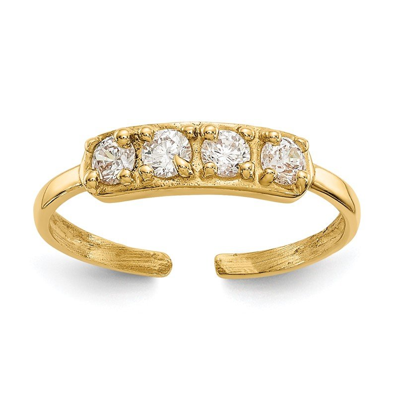 Quality Gold 14k CZ Toe Ring