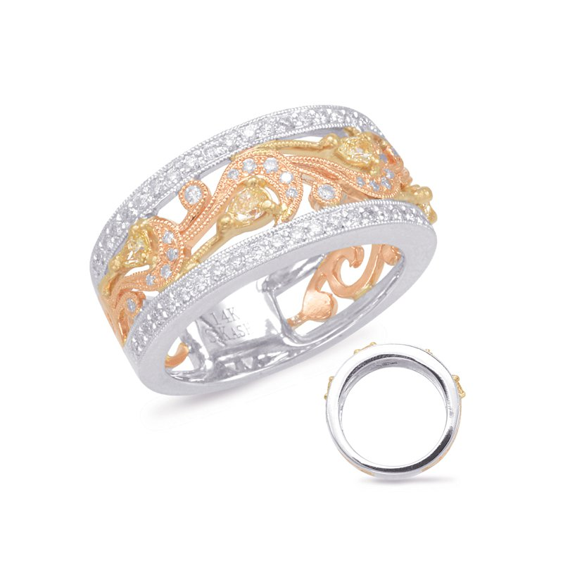 Briana Rose & Yellow & White Gold Fashion Ring