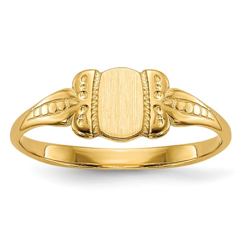 Quality Gold 14k Childs Signet Ring