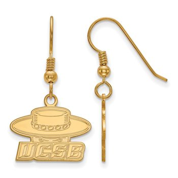 Gold-Plated Sterling Silver University of California Santa Barbara NCAA Earrings