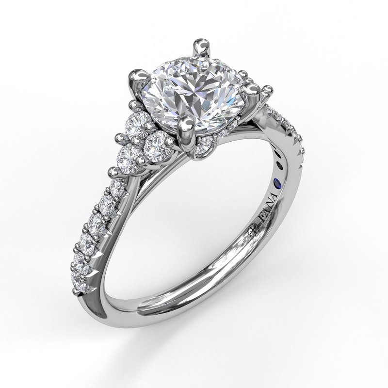 Fana Modern Three Stone Engagement Ring