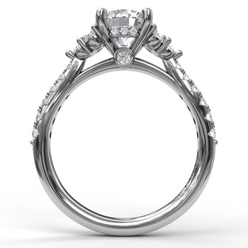 Modern Three Stone Engagement Ring