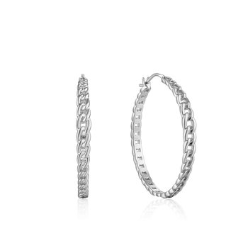 Curb Chain Hoop Earrings