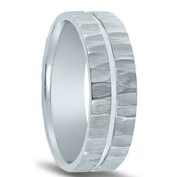 N17201 - Men's Wedding Band with Organic Finish