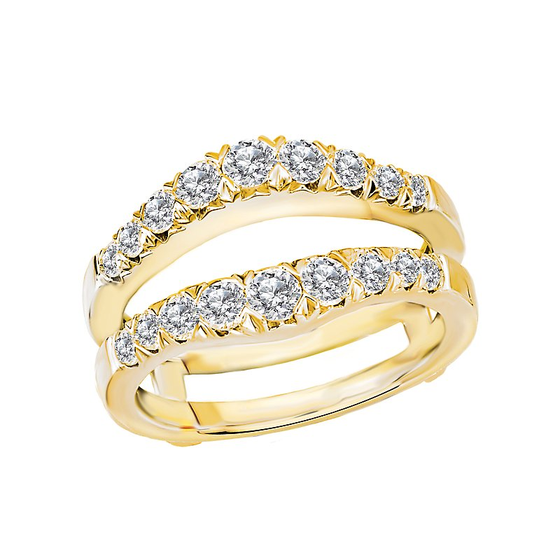 LaVie Diamond Wrap Wedding Band with Guard