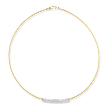 14K-Y SUPER FLEX WIRE NECK., 0.45CT