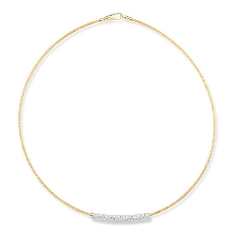 I. Reiss 14K-Y SUPER FLEX WIRE NECK., 0.45CT