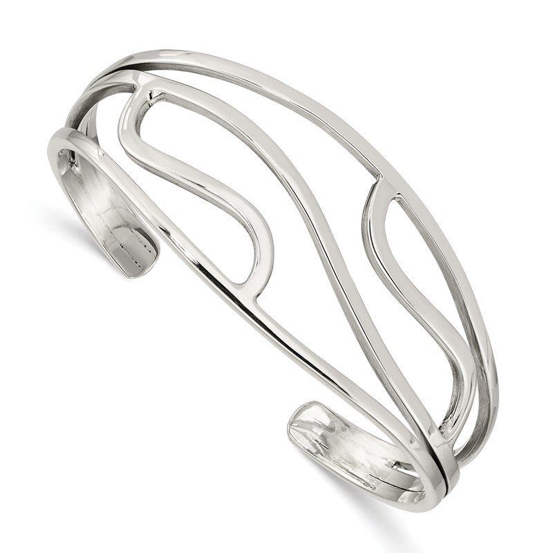 Quality Gold Sterling Silver Cuff Bangle