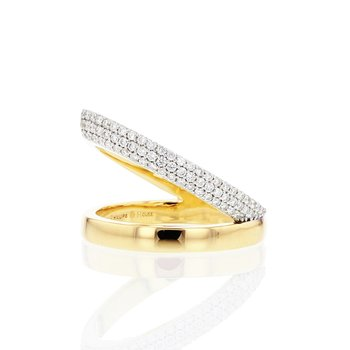 Yellow gold diamond sash ring