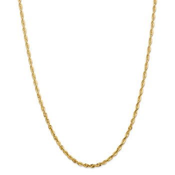 14k 4mm Extra-Light D/C Rope Chain