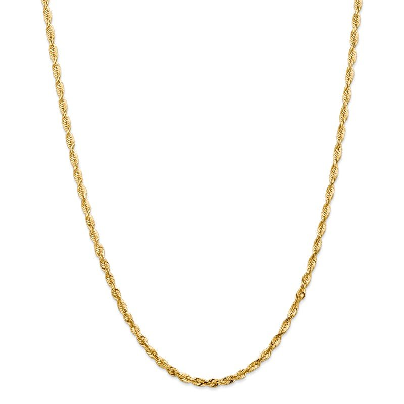 Quality Gold 14k 4mm Extra-Light D/C Rope Chain