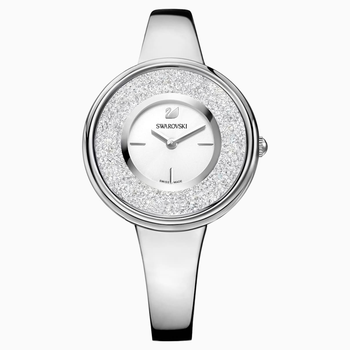 Crystalline Pure Watch, Metal bracelet, White, Stainless steel