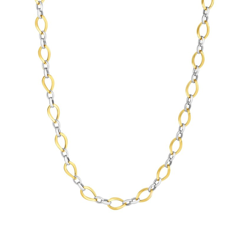 Royal Chain 14K Two-tone Gold Polished Twisted Oval Link Chain