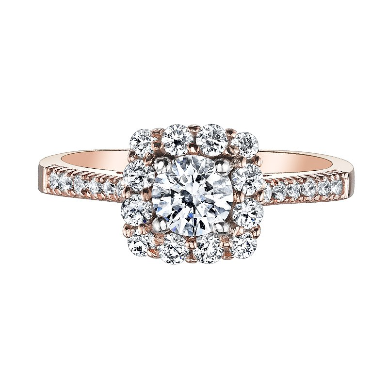 Love Story Halo Engagement Ring by Love Story