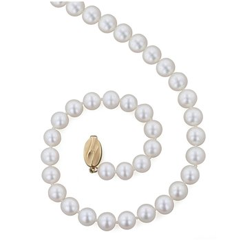 "White Freshwater Cultured Pearl 18"" Necklace"