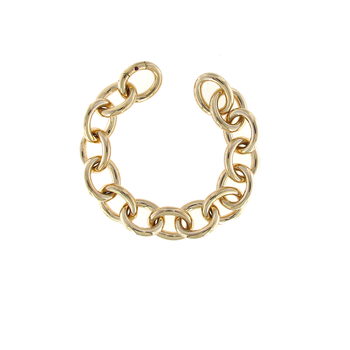 18Kt Yellow Gold Round Link Bracelet
