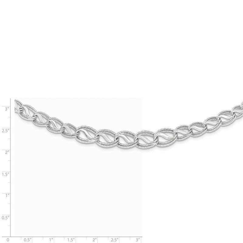 Quality Gold 14K White Gold Diamond Cut Necklace