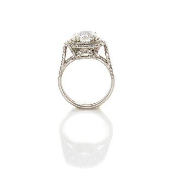 BRILLIANT CUT DOUBLE ROW HALO RING