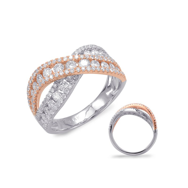 S. Kashi  & Sons White & Rose Gold Fashion Ring