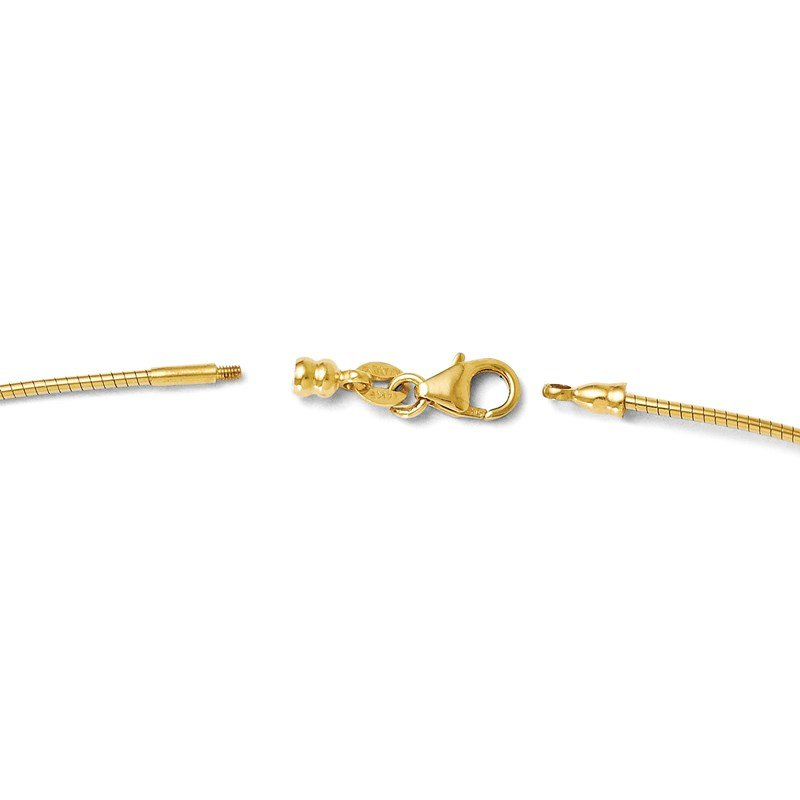 Leslie's Leslie's 14K 1.2mm Omega Necklace Detachable clasp Omega Necklace