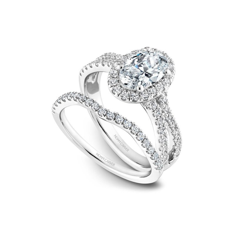 Noam Carver Oval Shaped Halo Engagement Ring