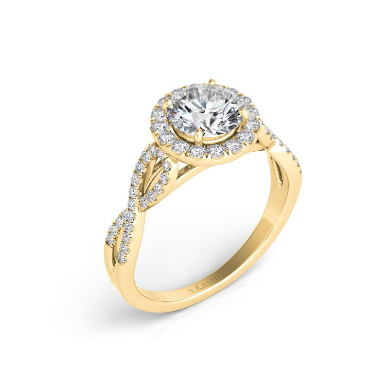 MAZZARESE Bridal Yellow Gold Engagement Ring