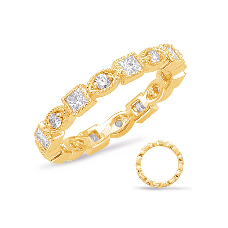 S. Kashi & Sons Bridal Yellow Gold Stackable Eternity Band