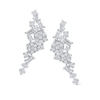 14K Mosaic Diamond Earring Climbers
