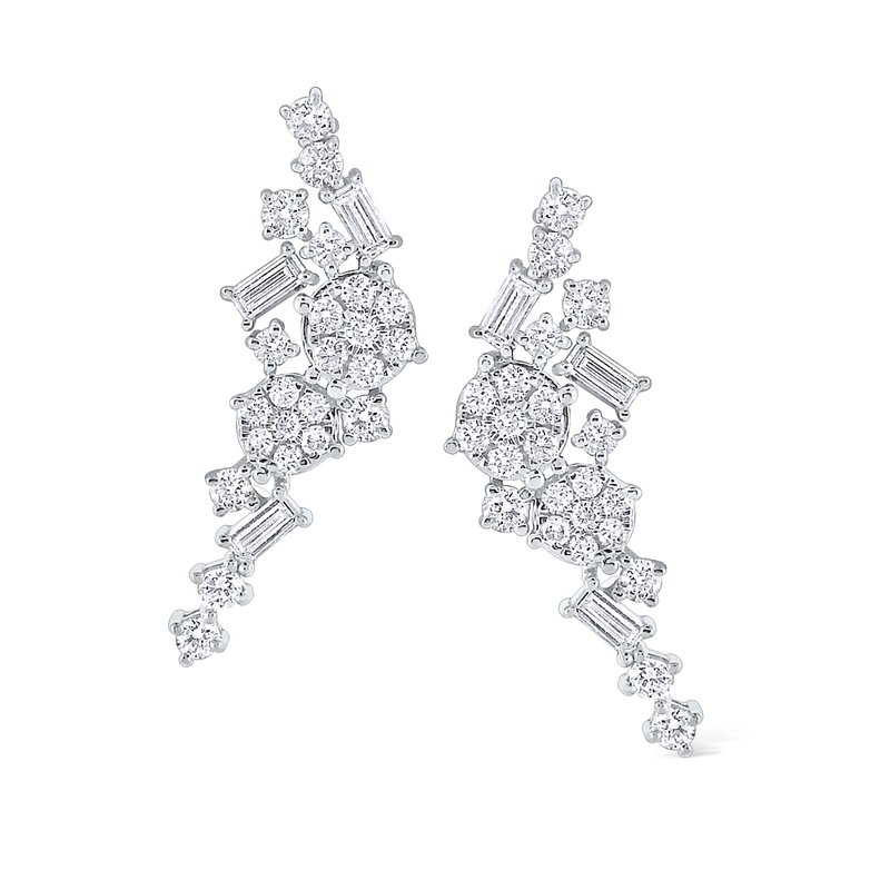 KC Designs 14K Mosaic Diamond Earring Climbers