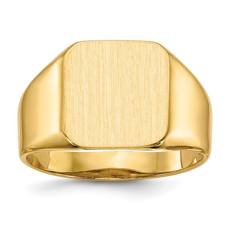 Quality Gold 14k 13.0x12.5mm Open Back Men's Signet Ring