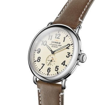 Runwell 47mm, Dk. Coffee Leather Strap
