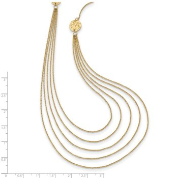 14k Five Strand Necklace