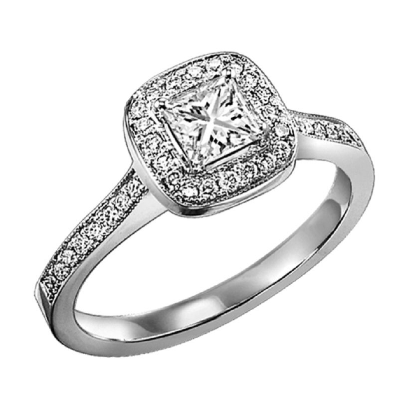 Bridal Bells 14K Diamond Engagement Ring 1/4 ctw with 1/3 ct Center
