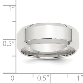 SS 8mm Bevel Edge Size 10 Band