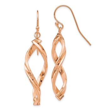 Leslie's 10K and Rose Gold Polished Dangle Earrings