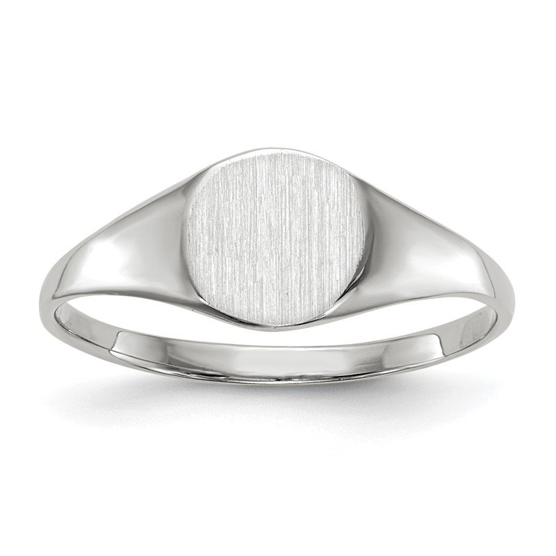 J.F. Kruse Signature Collection 14k White Gold 6.5x7.5mm Closed Back Signet Ring