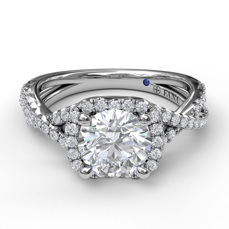 Fana Infinity Halo Engagement Ring