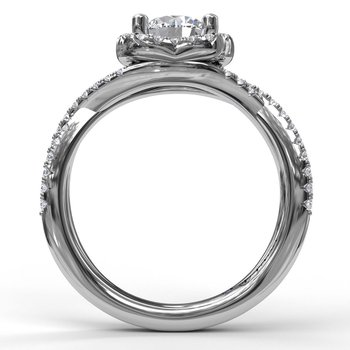 Infinity Halo Engagement Ring