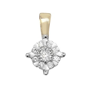 5.8mm 9Ct Yellow Gold 0.18Ct Diamond Pendant