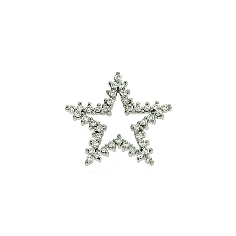 Briana White Gold Star Charm