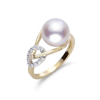 14K Yellow Gold Akoya Pearl Ring
