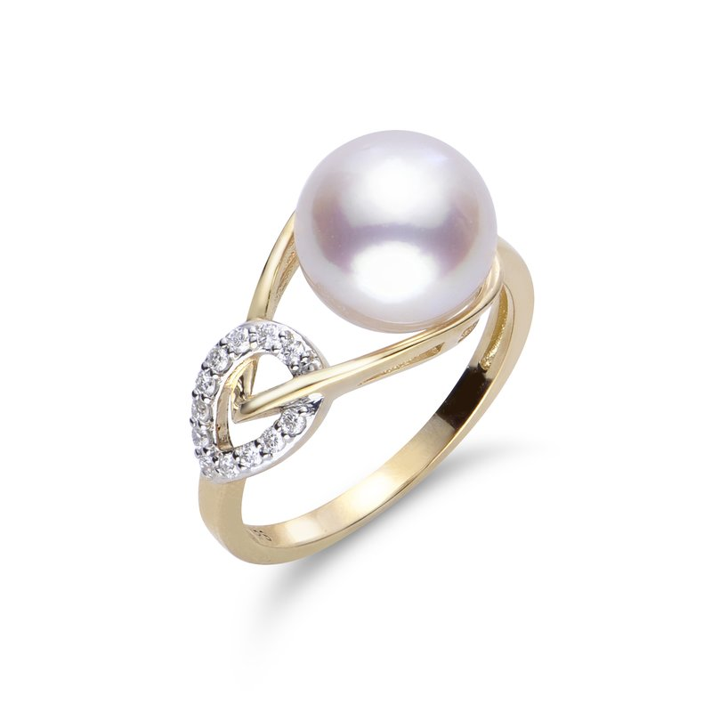 Imperial Pearl 14K Yellow Gold Akoya Pearl Ring